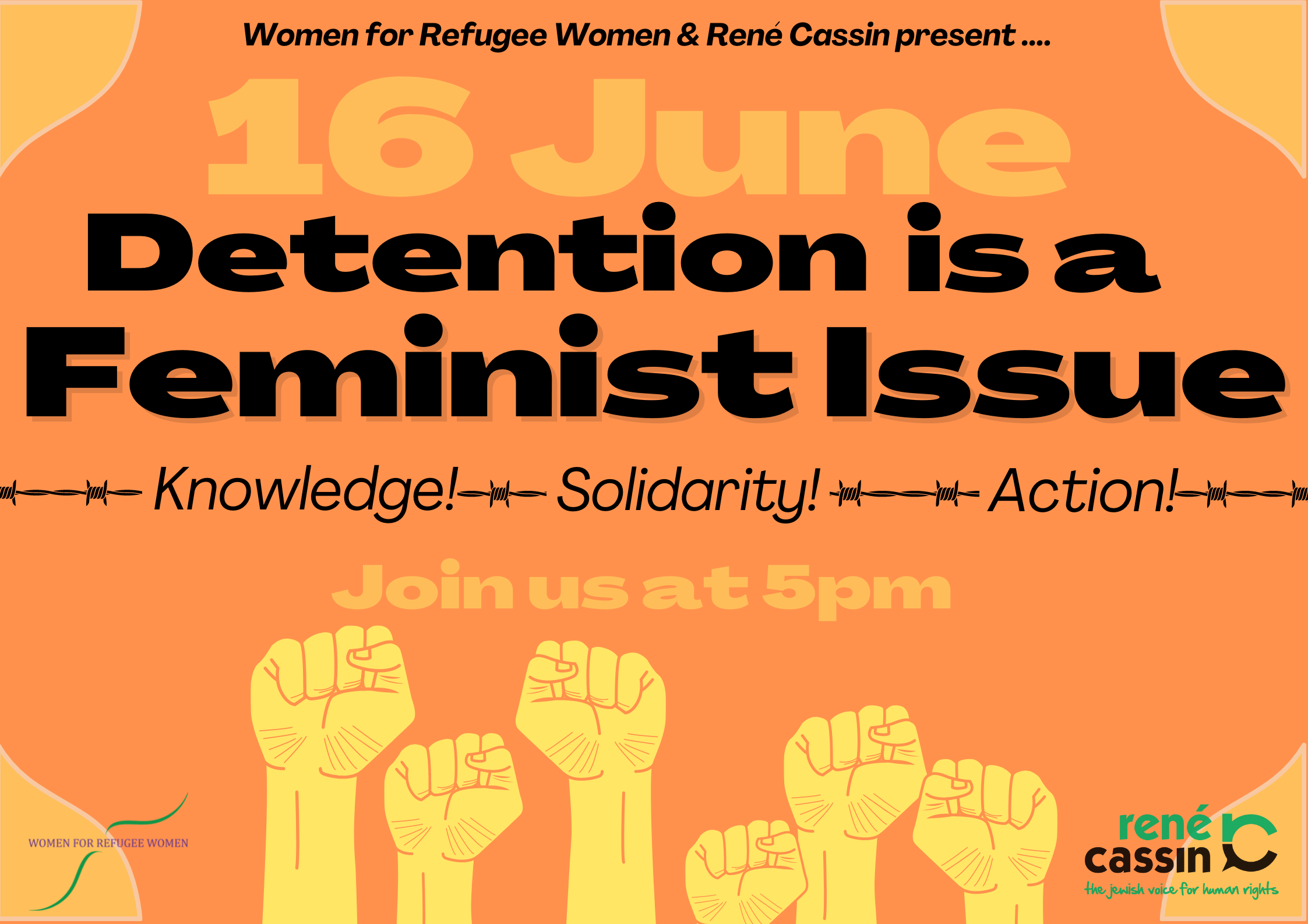 Detention is a Feminist Issue banner